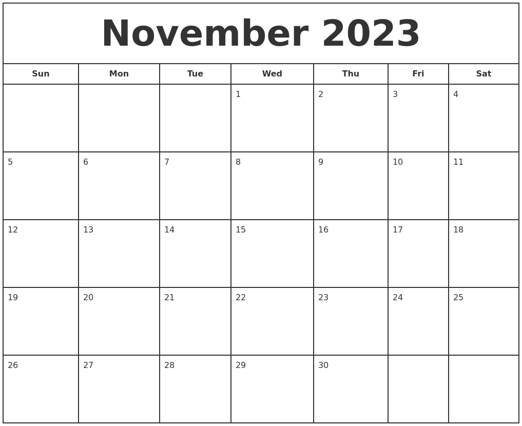July 2023 Blank Calendar Template