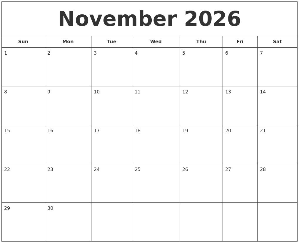 January 2027 Blank Calendar