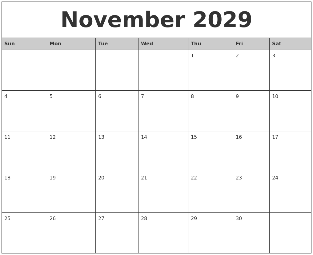 Monthly Calendar November : October calanders