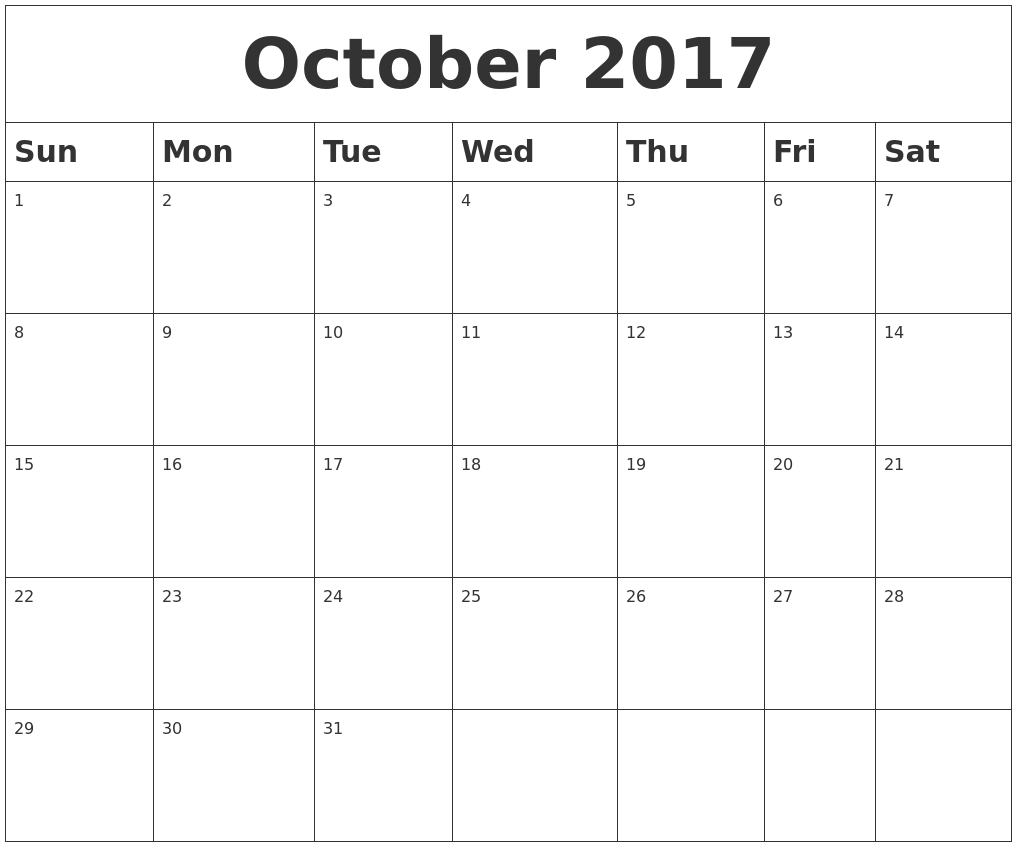 printable calendar 2017 word