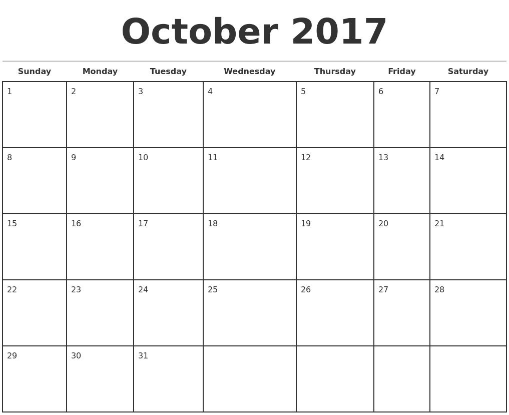 Free, Printable Calendars for 2017 - The Balance