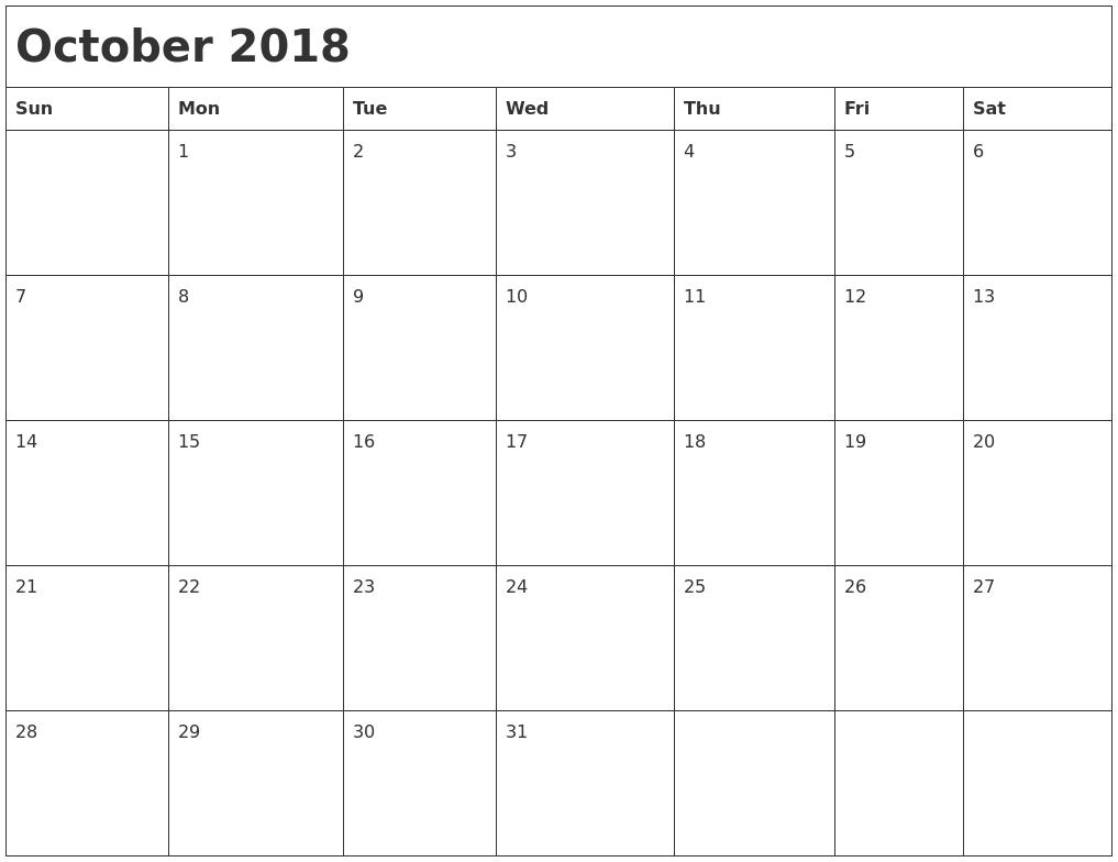 Calendar 2018 Png Images