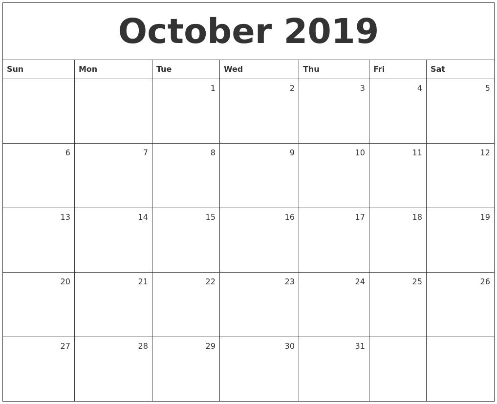 Calendar Monthly October : May calendar