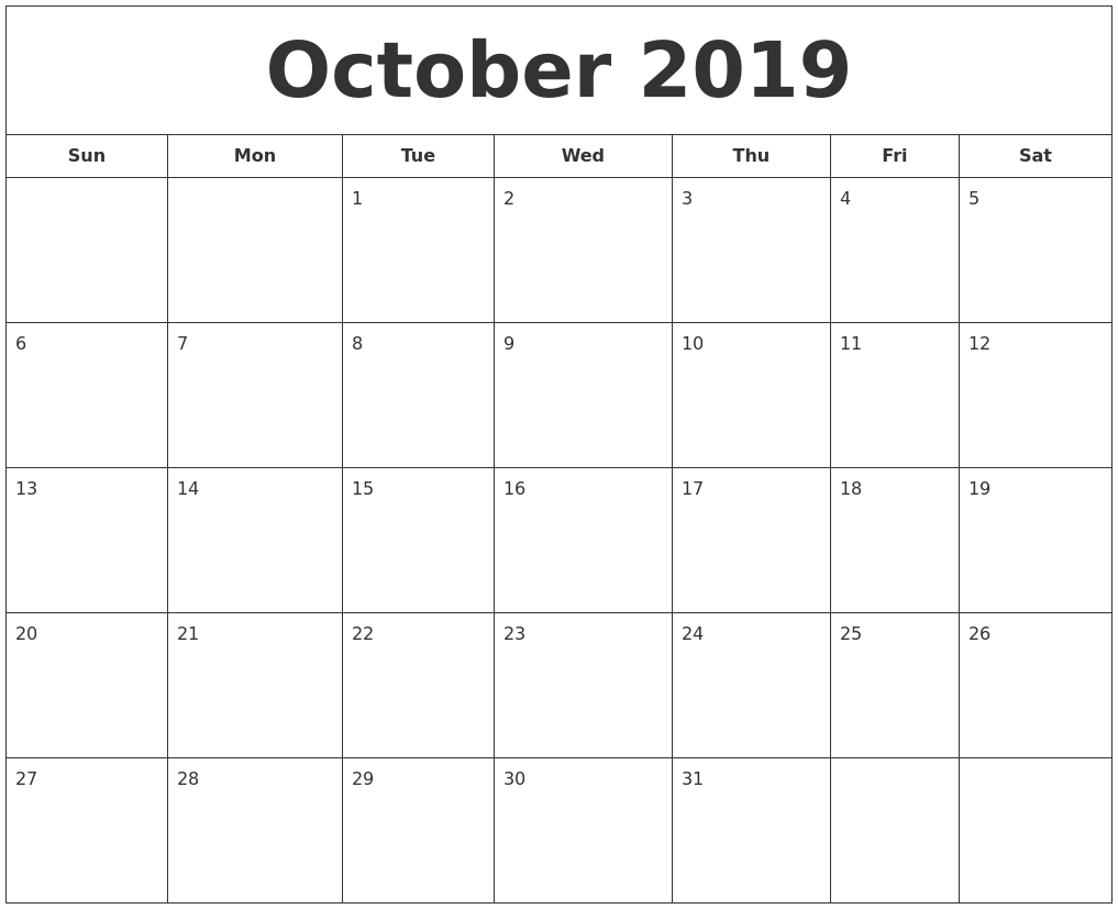 picture relating to Printable September Calendars known as September 2019 Calendar