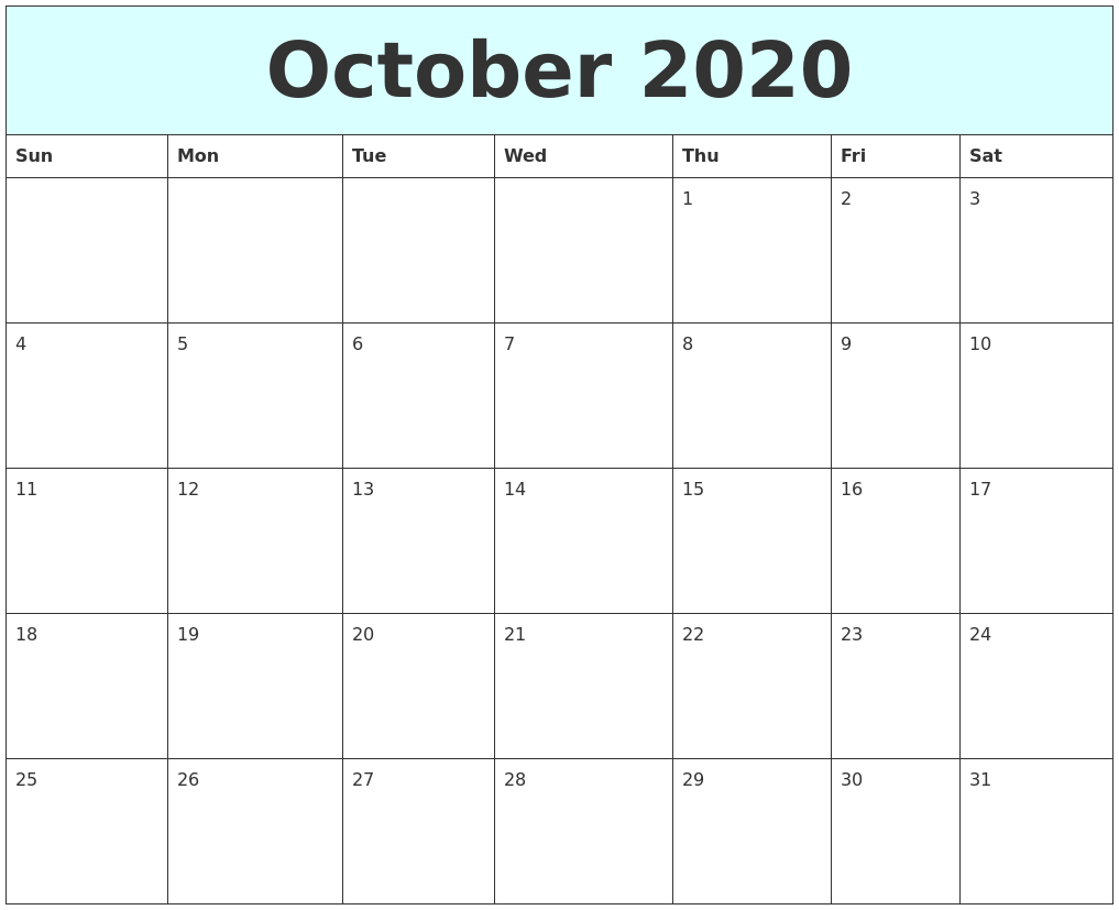 November 2020 Printable Monthly Calendar