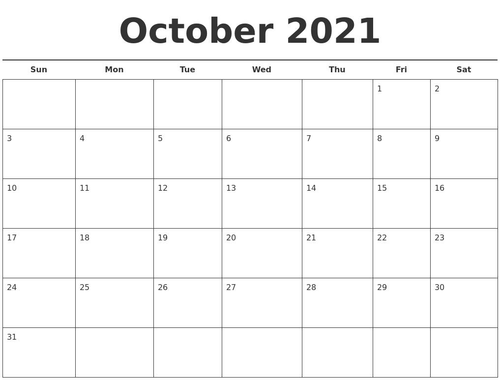 July 2021 Printable Calendars