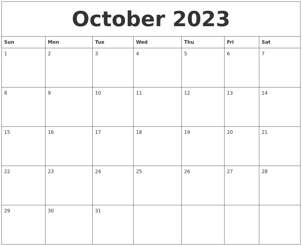 July 2023 Free Weekly Calendar