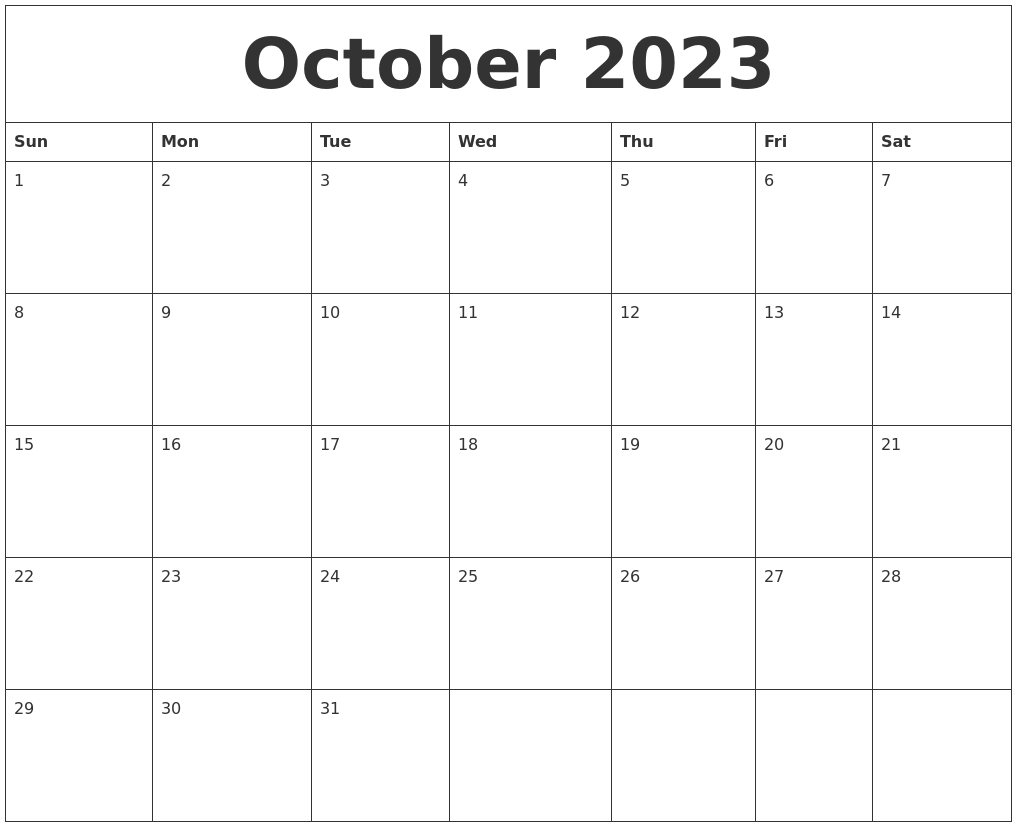 August 2023 Monthly Calendar To Print