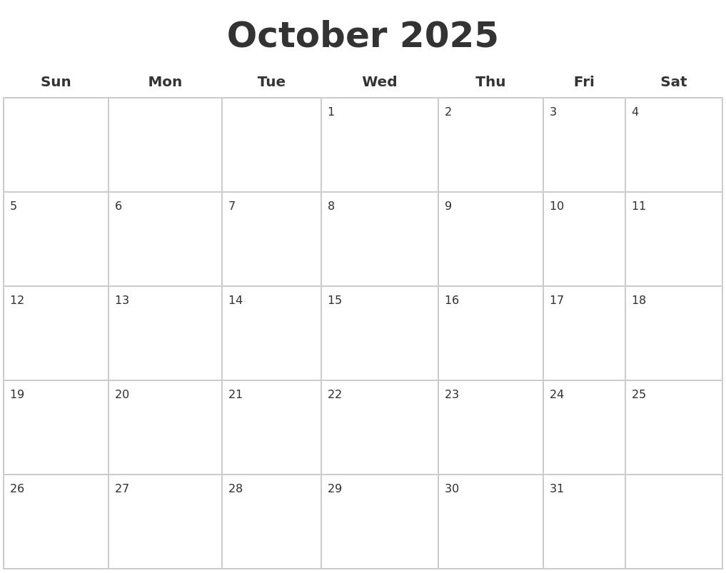 November 2025 Blank Printable Calendar
