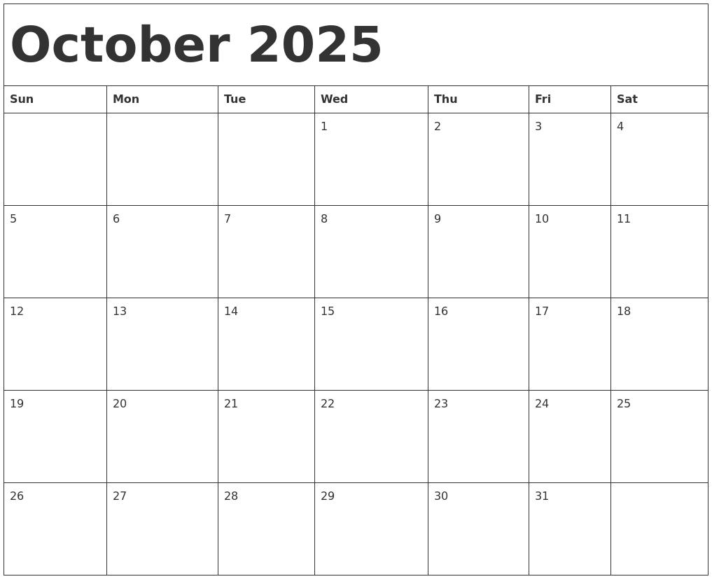 August 2025 Calendar