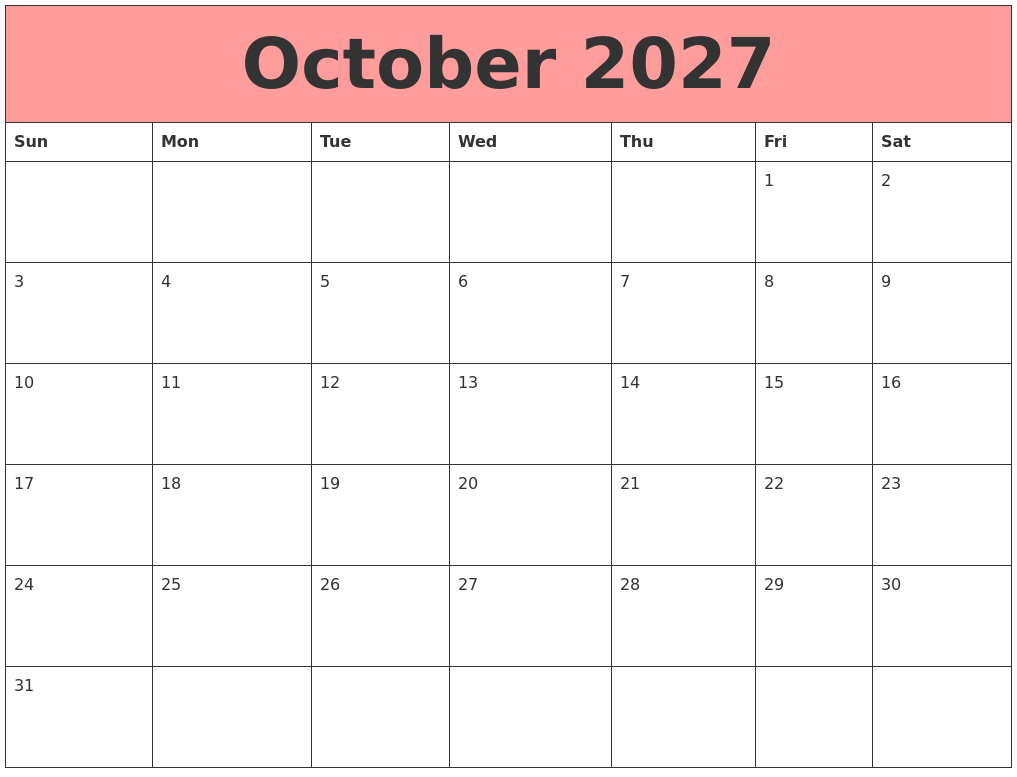 May 2027 Free Printable Calendar