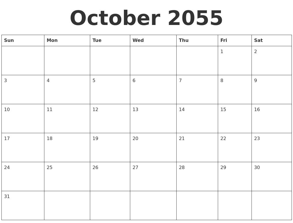 June 2055 My Calendar