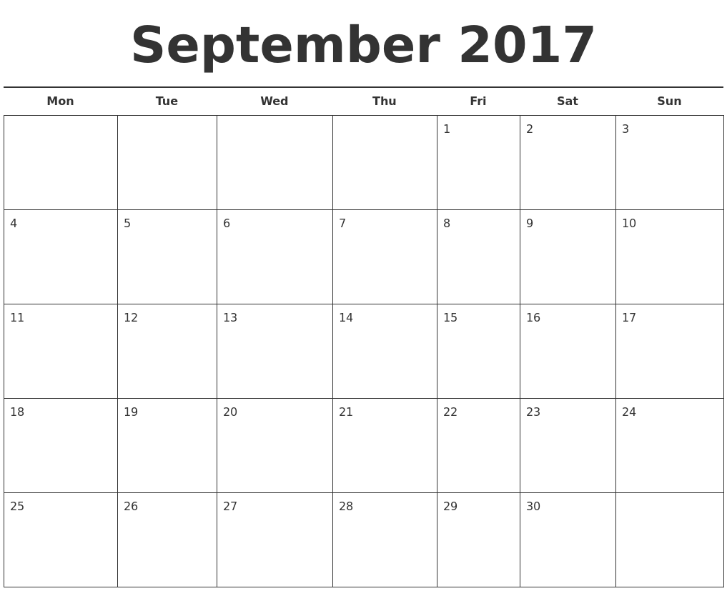 2017 Free Calendar Template | Calendar 2017