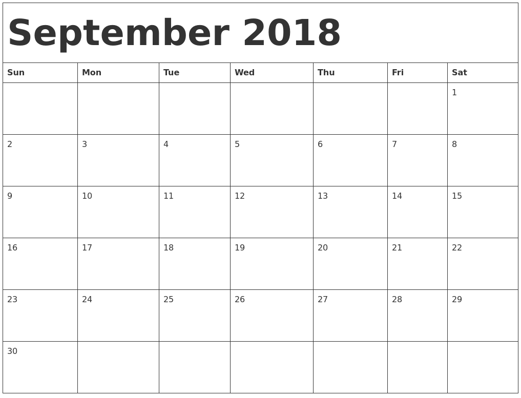 September 2018 calendar template maxwellsz
