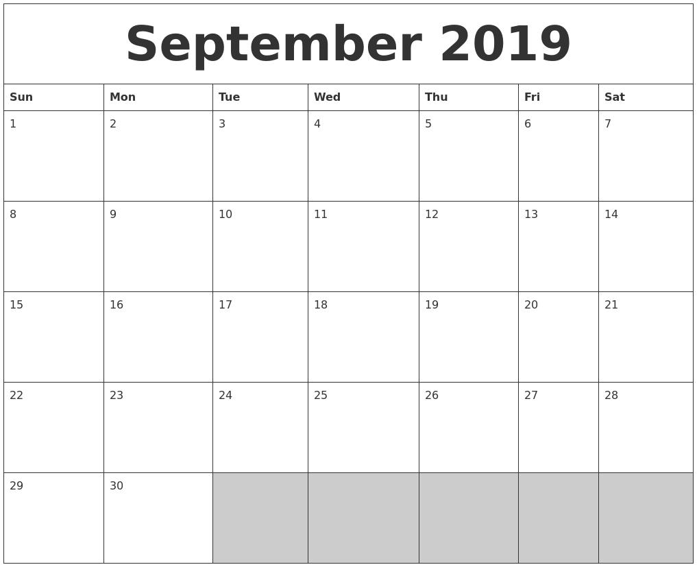 blank printable calendars
