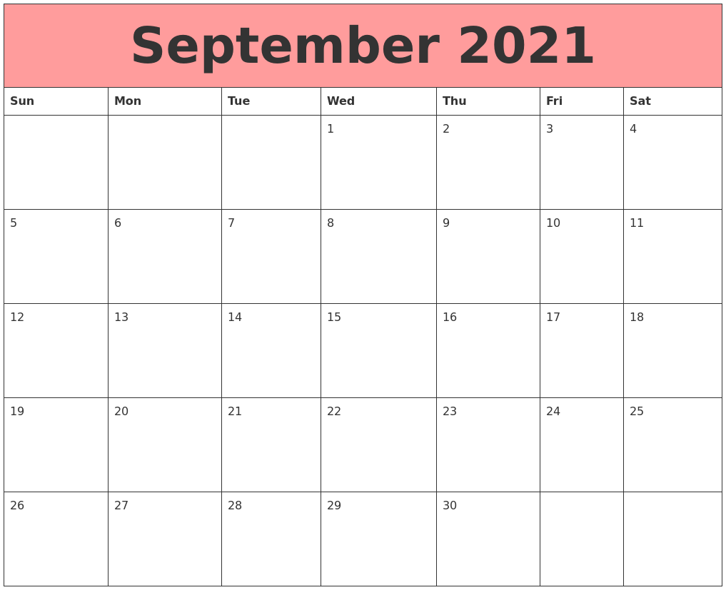 September 2021 Calendars That Work