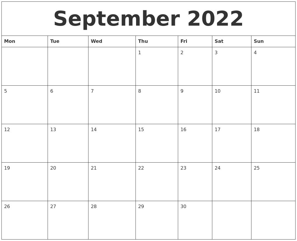 Calendar 2022 September Printable.September 2022 Cute Printable Calendar