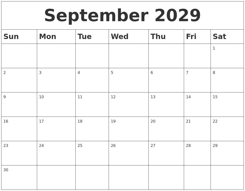 Calendar Template November
